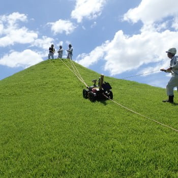 Highly dense GPR survey at the artificial hill in Kumamoto Suizenji Garden - Part2