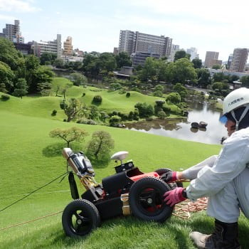 Highly dense GPR survey at the artificial hill in Kumamoto Suizenji Garden