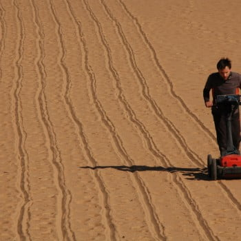 Desert GPR transects mapping ancient palaeochannels