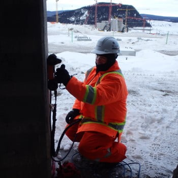 concrete inspection at -45C