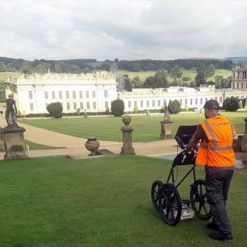 GPR Surveying at Chatsworth House England