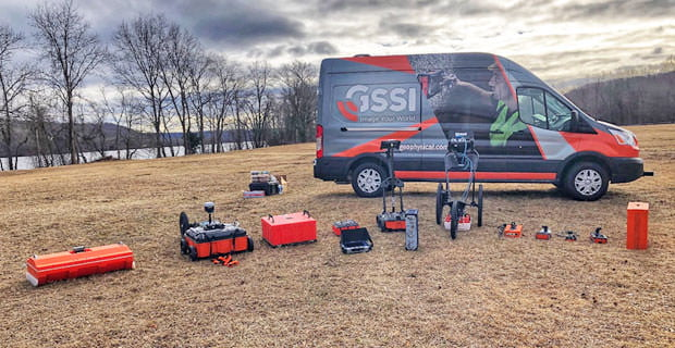 GSSI survey equipment