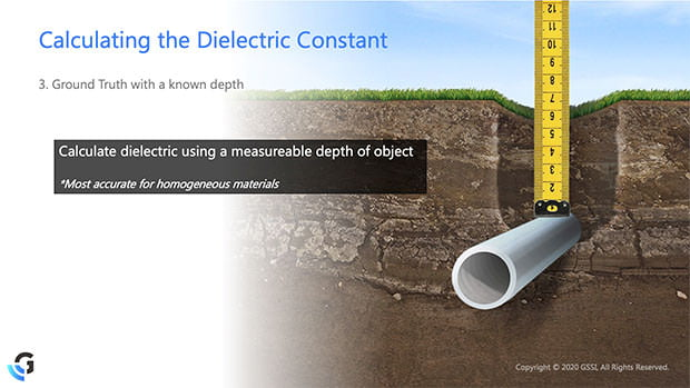 Calculating Dielectric Constant with Ground Truth
