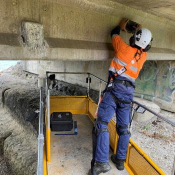 StructureScan Mini XT from a Bridge Inspection Unit