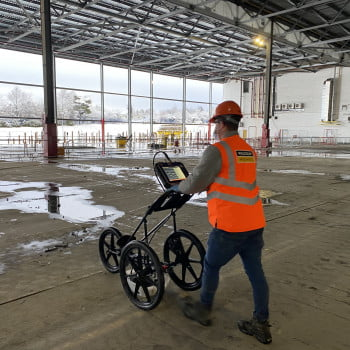 Concrete scanning using the SIR4000