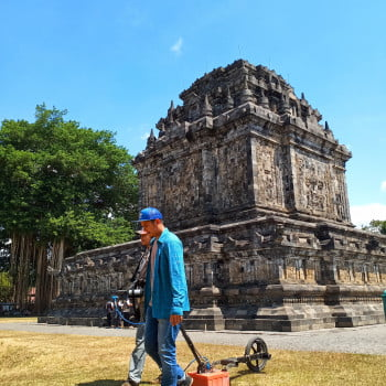 The SIR® 3000 For Detection the Ficus Tree Roots in Mendut Temple Area
