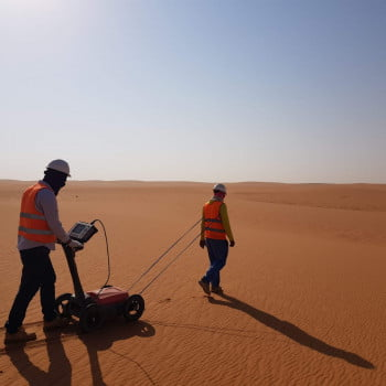 GPR survey using high frequency